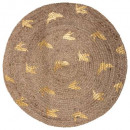 Liberty jute rug d.80, medium beige