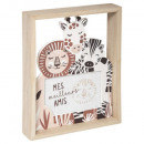 wooden outline animal frame, multicolored