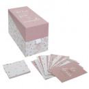 caja de fotos + 20 tarjetas rosa, rosa