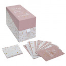 fotodoos + 20 roze, roze kaarten