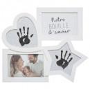 wholesale Pictures & Frames: imprint frame x2 + 2 photos, white