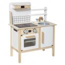 cocina de madera nueva, multicolor