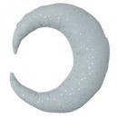 Cojín berlingot luna azul, azul grisáceo
