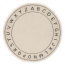 alfombra alfabeto d.120, marfil