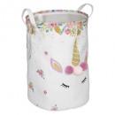 caja de juguetes unicornio, multicolor