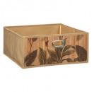 cesta de almacenamiento 31x15 estampado de bambú