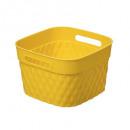 cesta cuadrada 4l disco amarillo, amarillo
