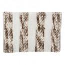 alfombra gruesa de rayas 50x75 taupe