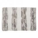alfombra gruesa de rayas 50x75 gris