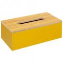 caja de pañuelos mostaza moderna, mostaza