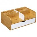 Organizador moderno de 1 cajón blanco, blanco
