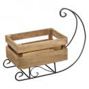 wooden sled crate decoration l36cm