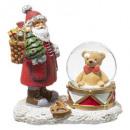 Großhandel Puppen & Plüsch: Schneekugel Weihnachtsmann Teddybär 45mm