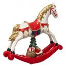 rocking horse resin obj 18cm