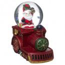 Globo de nieve de tren de Papá Noel de 80 mm