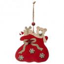 hurtownia Zabawki pluszowe & lalki: Świąteczna dekoracja kaptur drewniany miś 11cm