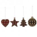 fa karácsonyi dekoráció bársony bdx vagy x4