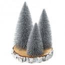 artificial tree table x3 s / log h20cm