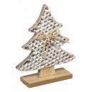 groothandel Woondecoratie: kunstboom hout txt goud glitter 19cm