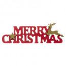 groothandel Woondecoratie: obj woord vrolijk kerst rendier l27cm