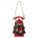 Karácsonyi dekoráció fa szánkópálya 2 Tányér 12 cm