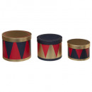round boxes circus x3