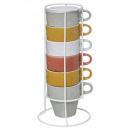 rack 6 mugs m leaf 26cl