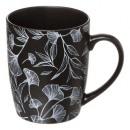 mug m black floral 34cl, 2-fois assorti