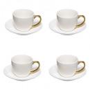 coff 4 tazas pequeñas de 9 cl, blancas
