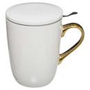koffiemok l + inf klein s. 48cl, wit