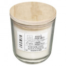 scented candle glass + wood veget 170g, 4-fold a