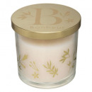edi metal glass scented candle 270g, 3-fold asso