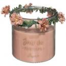 bougie parfumées verre fleurs 430g, 3-fois assorti