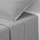 sábana encimera 2p gris 240x290, gris