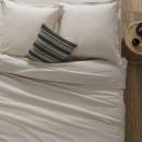 Funda nórdica de lino 1 pieza 140x200, beige lino