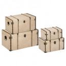 baúl de lona cuba x4, hilo beige