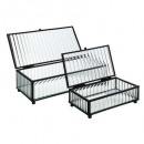 wholesale Small Furniture: glass box weapon house x2, black