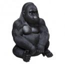 gorila sentado h46, negro