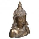 cabeza diosa resina oro h36, oro