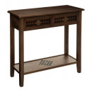 oasis 2-drawer console, brown