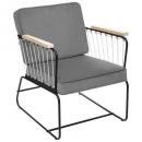 fauteuil velvet anzio gr, grijs