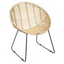 Laora ronde rotan fauteuil, beige