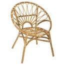 folk rattan armchair praya, beige