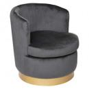 fauteuil velvet solal gr, grijs