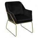 fauteuil velvet p dore chet nr, zwart