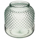 tealight holder recycled diams transparent h19, tr