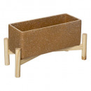 wood planter oc hotel l35, ocher yellow