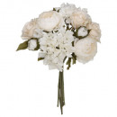 bouquet mixte romance blanche h28, blanc