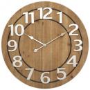reloj de mdf / metal d68 hailey, marrón