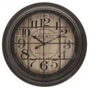 wholesale Clocks & Alarm Clocks: tony metal clock 56.5x8, black